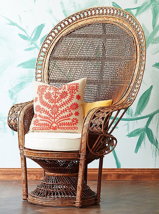 This Wicker Peacock Chair Is Amazing! I Love The Indoor/outdoor Line Thatu0027s  Blurring