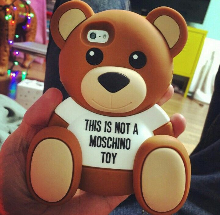 Cute phone case by moschino