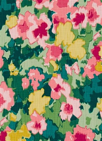 Madcap Cottage Rousham Romp Strawberry -  Transitional watercolor floral fabric print from Madcap Cottage collection. Great for chair fabric, upholstery fabric or drapery curtain fabric.
