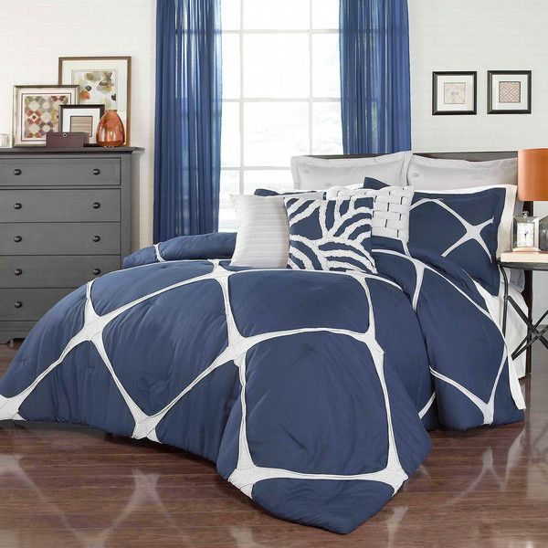 Vue™ Cersei Comforter Set ($135) ❤ liked on Polyvore featuring home, bed & bath, bedding, comforters, king size comforters, king pillow shams, king size shams, oversized king size comforter and oversized king comforter sets