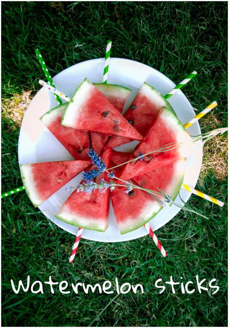 watermelon sticks, healthy snack, kids snack, vegan, refreshing, summer