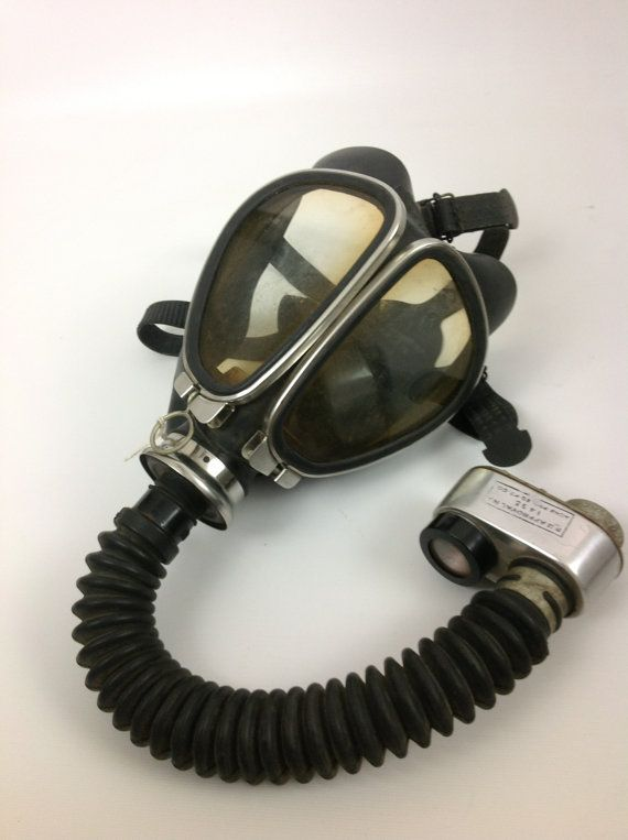 Vintage Acme Fire Department Gas Mask Safety Kit Complete