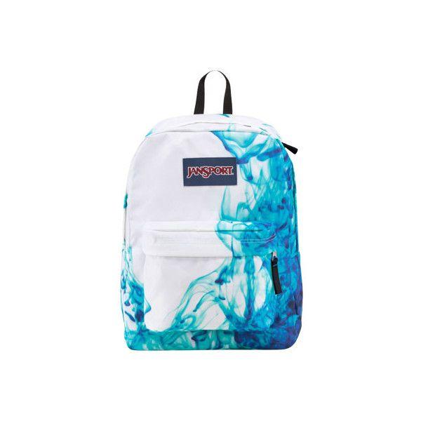 JanSport Superbreak - Multi/Blue Drip Dye ($36) ❤ liked on Polyvore featuring bags, handbags, shoulder bags, jansport purse, blue purse, jansport shoulder bag, blue shoulder bag and pocket purse