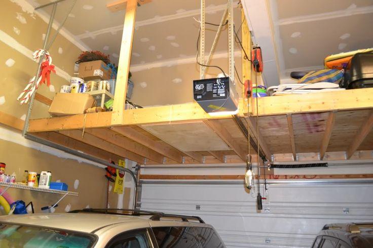 Pin by jennie nicholson on craft ideas pinterest for Garage storage loft designs