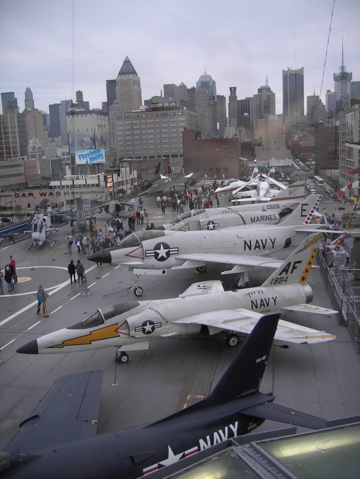 An assortment of great planes on USS Intrepid, NYC. Note the Phantom :-)