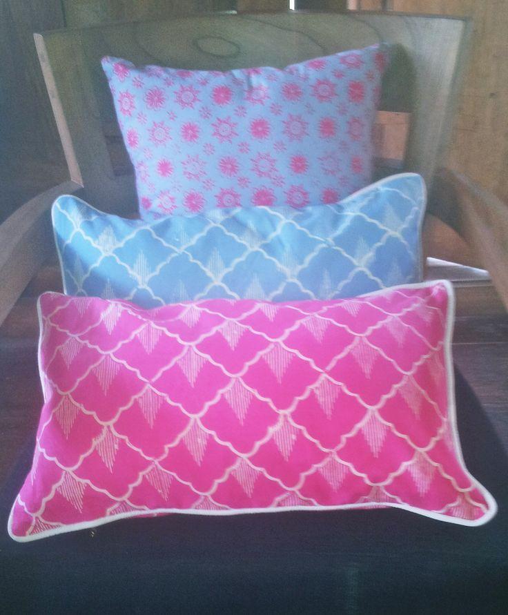 Pink & Blue Cushions.