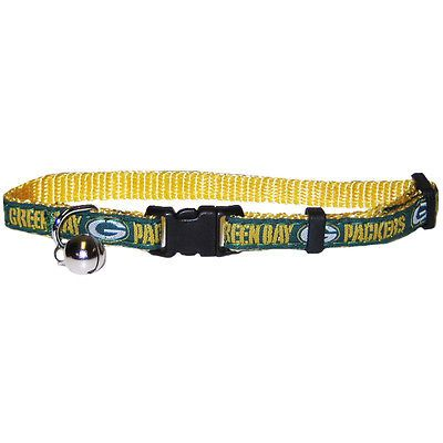 Green Bay Packers Safety Cat Bell Collar Officially Licensed NFL Products