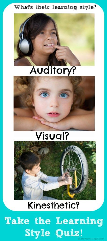 A unique learning style quiz to find out your child's (and your own) learning style.