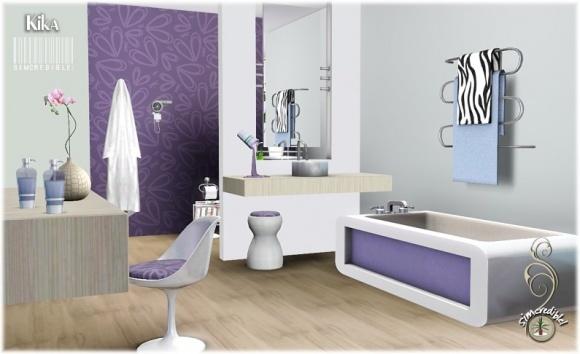 Kika bathroom set at simcredible design sims 3 finds for Bathroom decor sims 3