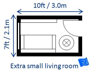 Extra small living room
