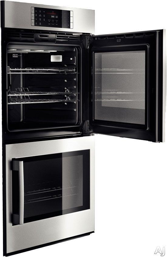 "Bosch HBLP651 30"" Double Electric Wall Oven with 4.6 cu. ft. European Convection Ovens, Self-Clean, 14 Cooking Modes, Fast Preheat, Temperature Probe and Side-Swing Door"
