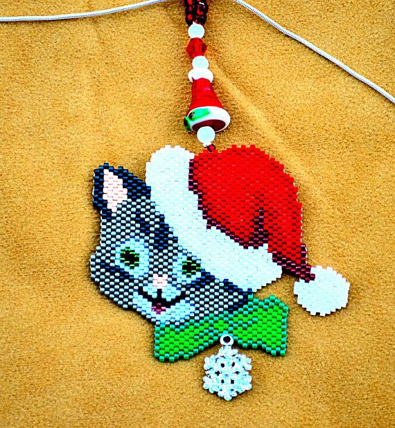 Christmas Kitten Necklace