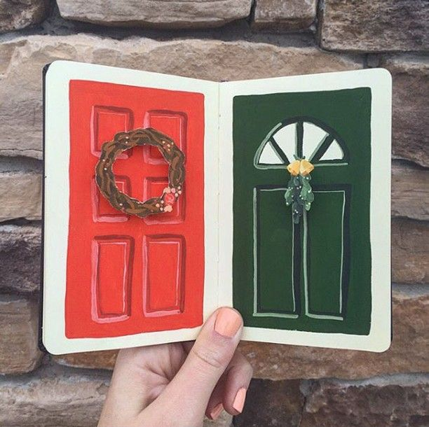 Tis The Season For Door Decor Door Decorations Instagram Instagram Posts