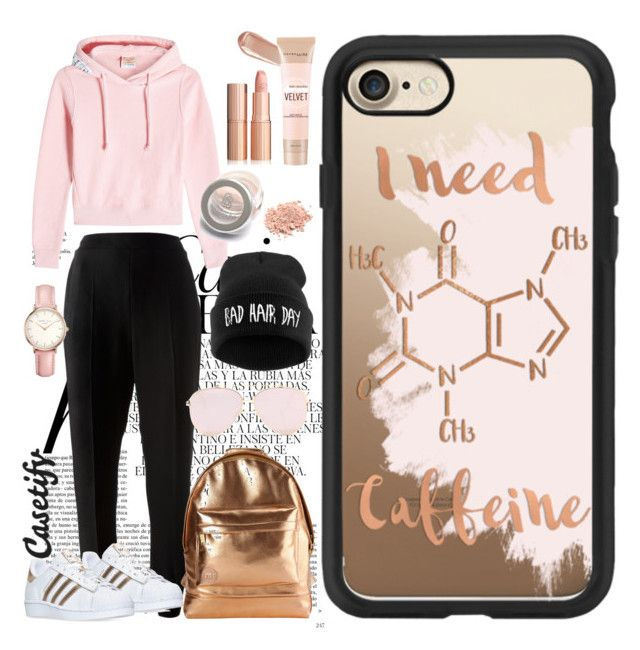 Caffeine please ☕️ by casetify on Polyvore featuring polyvore fashion style Vetements STELLA McCARTNEY adidas Mi-Pac Topshop Casetify Maybelline NARS Cosmetics Whiteley clothing