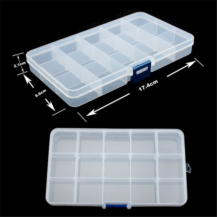 Free Shipping new 15 grid plastic Transparent jewel case box I hv3n-in Storage Boxes & Bins from Home & Garden on Aliexpress.com | Alibaba Group