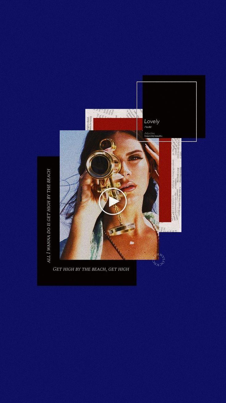 Lockscreen Lana Del Rey Blue Aesthetic Aesthetic Lockscreens