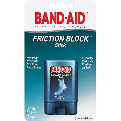 A genius product when you're breaking in new sandals or shoes—it protects your bare skin from rubbing and the blisters that follow. And unlike Vaseline (if that's your usual trick) it's not gloppy.: Branding Friction, Bands Aid Activities, Boxes Packs, Bands Aid Friction, Blocks Sticks, High Heels, Sticks 34Oz, Friction Blocks, Aid Branding