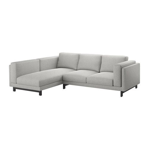 $1100  109-69-72 NOCKEBY Loveseat with chaise, left - left/Tallmyra white/black, wood - IKEA