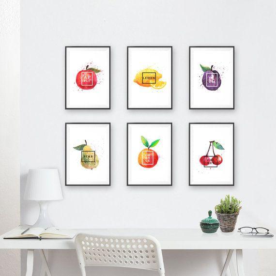 Kitchen Decor // Kitchen Art // Kitchen Artwork // Kitchen Fresh Fruit Art