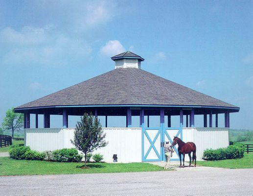 Covered round pen   Stunning Stables