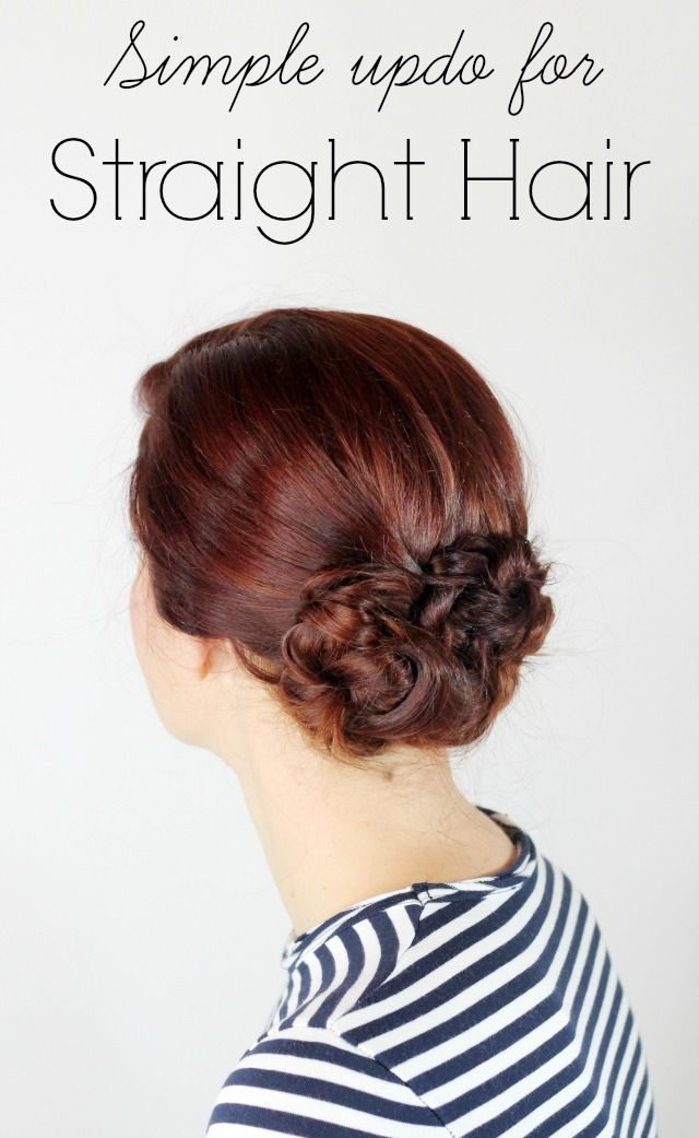 Sometimes we just don't feel like curling all of our hair. This updo for straight hair is perfect for those days! It's easy & quick & looks fabulous!