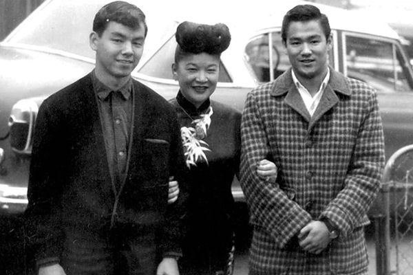 Bruce seen here with his Brother Peter and Ruby Chow.