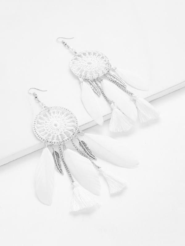 c6d149944 Stone Type: No Stone Metal Color: Silver Color: White Type: Dangle Style:  Casual