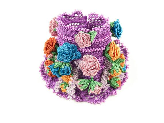 Bracelet-Bohemian Style Handmade Crochet Crystal Beadwork