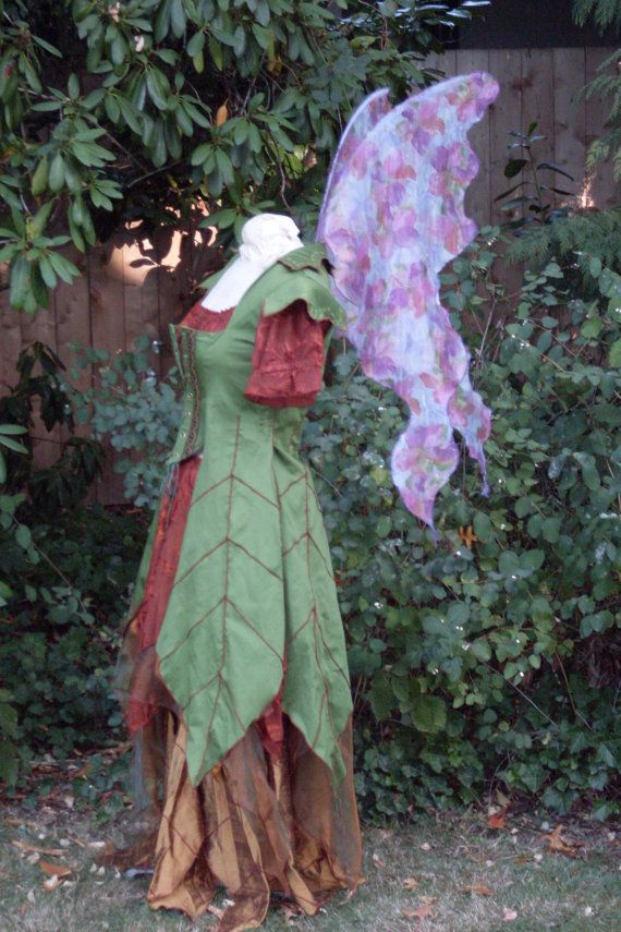 Green+Woodland+FAIRY+WINGS+Forest+Sage+Olive+by+EnchantedHearth,+$45.00