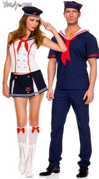 nautical sailors couples costume halloween pinterest. Black Bedroom Furniture Sets. Home Design Ideas