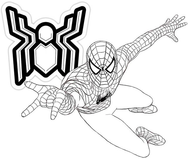 A New Spider Man Far From Home Coloring Page Coloring Pages Marvel Coloring Spiderman