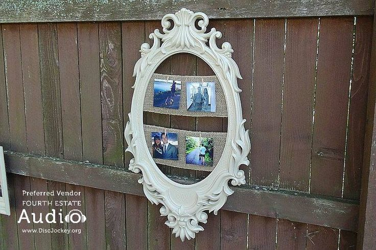 Taryn and Kirby found dozens of antique picture frames, and displayed photos of their courtship. http://www.discjockey.org/real-chicago-wedding-sept-26-2015