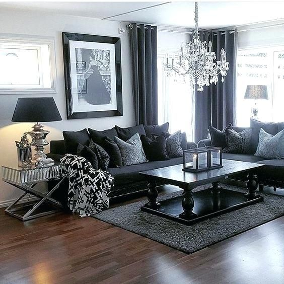 Fancy Grey Couch Living Room Furniture Designs Contemporary Black