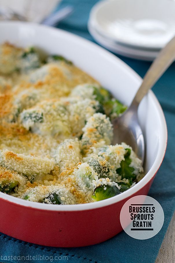 Brussels Sprouts Gratin from @Deborah Harroun {Taste and Tell} #thanksgiving #recipe