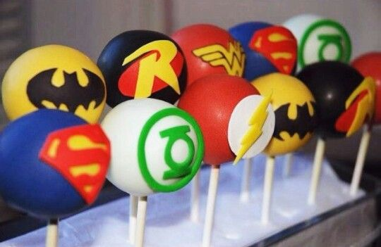 DC comics cake pops I want some for my 17th birthday