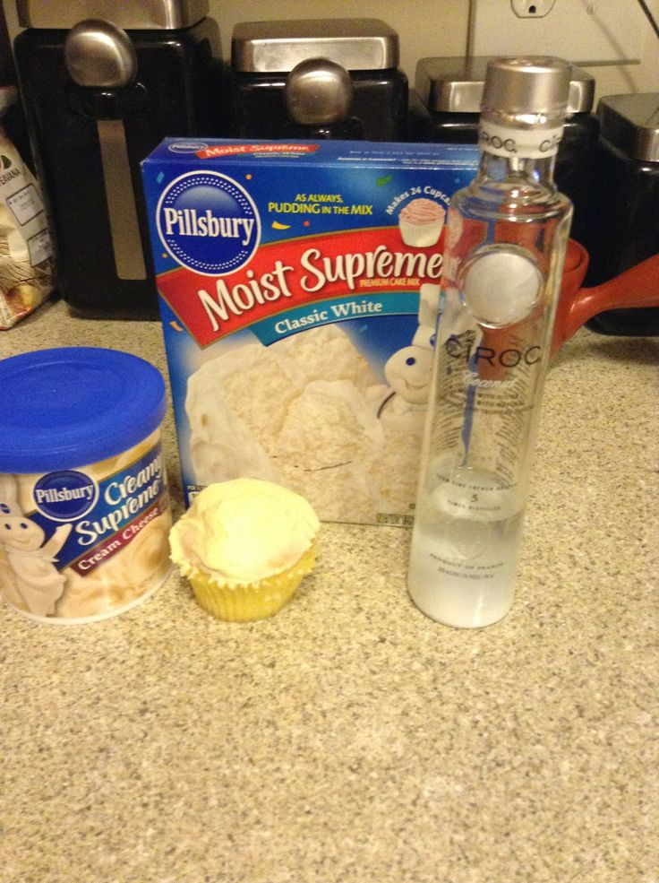Ciroc cupcakes. Added 3/4 cup coconut ciroc and 1/4 cup water