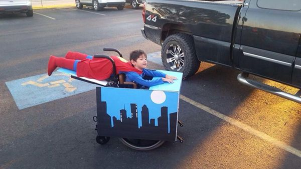 Superman Flies Over Metropolis In This Clever Wheelchair Costume