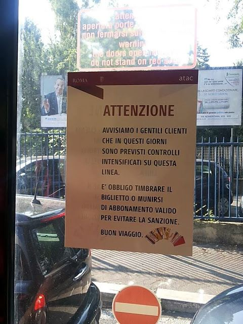 "#Atac avvisa i ""Gentili clienti"""