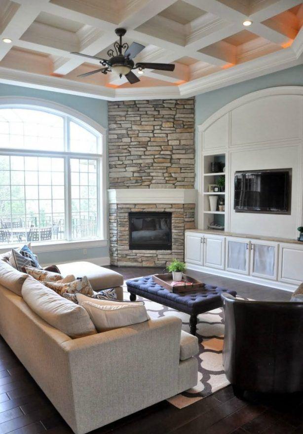 Consejos Inteligentes Para Decorar Alrededor De Esquina Chimeneas Furniture Arrangement Furniture Layout Corner Fireplace Living Room