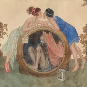 Erich Schutz - Diogenes in seinem Fass
