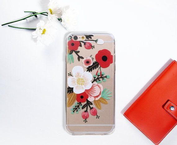Flower iPhone 6 6S Case Floral Clean Transparent by GreenyView