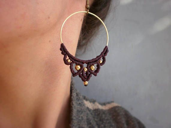 #christmasgifts  #yogainspiration  #uniquejewelry  #giftsforher  idea #burgundy  #macramental   #macrameearrings #macramehoops #macramejewelry #bohochic #bohostyle #fashion #winteraccessories #yogajewelry #yogastyle #yogi #yogaeverydamnday #yogalifestyle #hippiebohemian #bohemianstyle #elegantjewelry #hanmadecreations #etsyshop #etsyseller #yogaessentials #hoopearrings #fashion #shopping #etsy #art #lotus #bohochic #bohemianstyle #hippiechic
