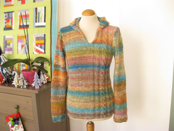 #Dotquilts #Noro #Knitting #Sweater #hooded