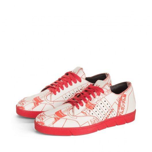 Loewe Sneakers - GALAXY SNEAKER (GUNDAM robot art) Red/red