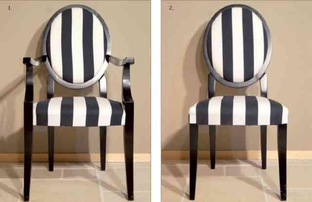 scaune cu spatar rotund