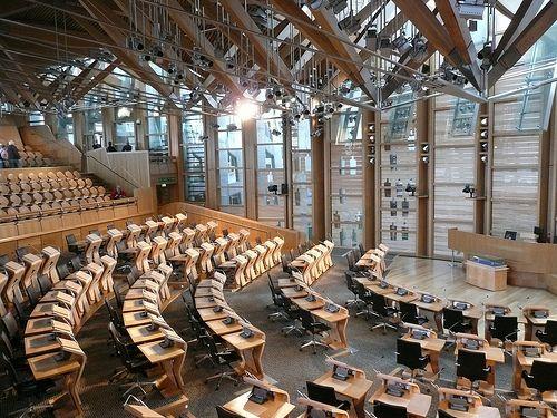 Scottish Parliament  Parliament rooms inside the Scottish Parliament building, Edinburgh, Scotland. Credit: Wendy Harris.