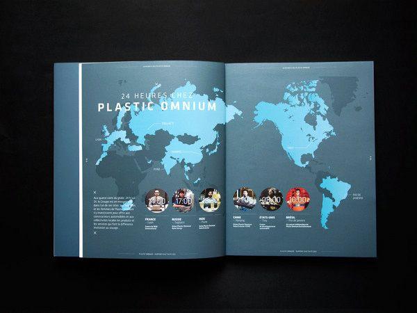 Plastic Omnium Annual Report 2012 by Dezyderiusz Gusta & Alice Tétaud, via Behance