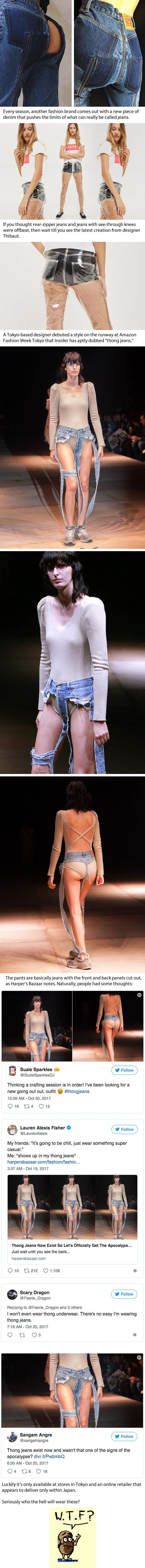 High-Fashion 'Thong Jeans' Are The Latest Trend But It Is Quite Confusing