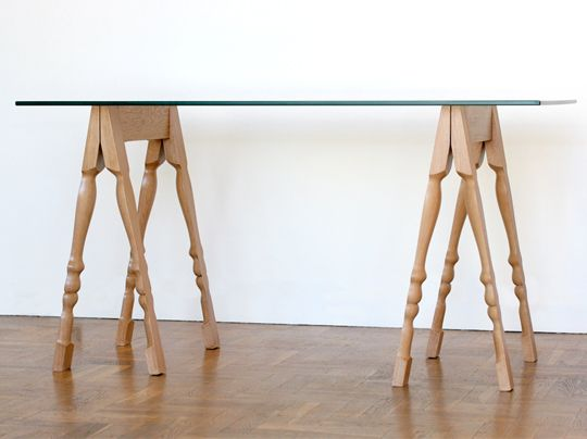 French table trestles / light oak version.