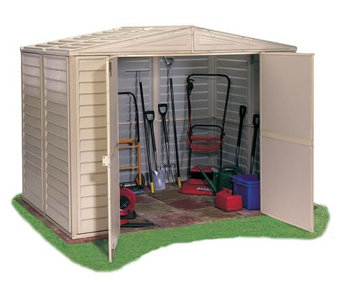 SAVE £46 IF YOU BUY DURING SEPTEMBER. The Duramate vinyl storage shed is manufactured from a fire retardant durable PVC with strong steel frame and supports. the shed is fade and weather proof, will never rust, rot nor require seasonal application of paint or sealant.